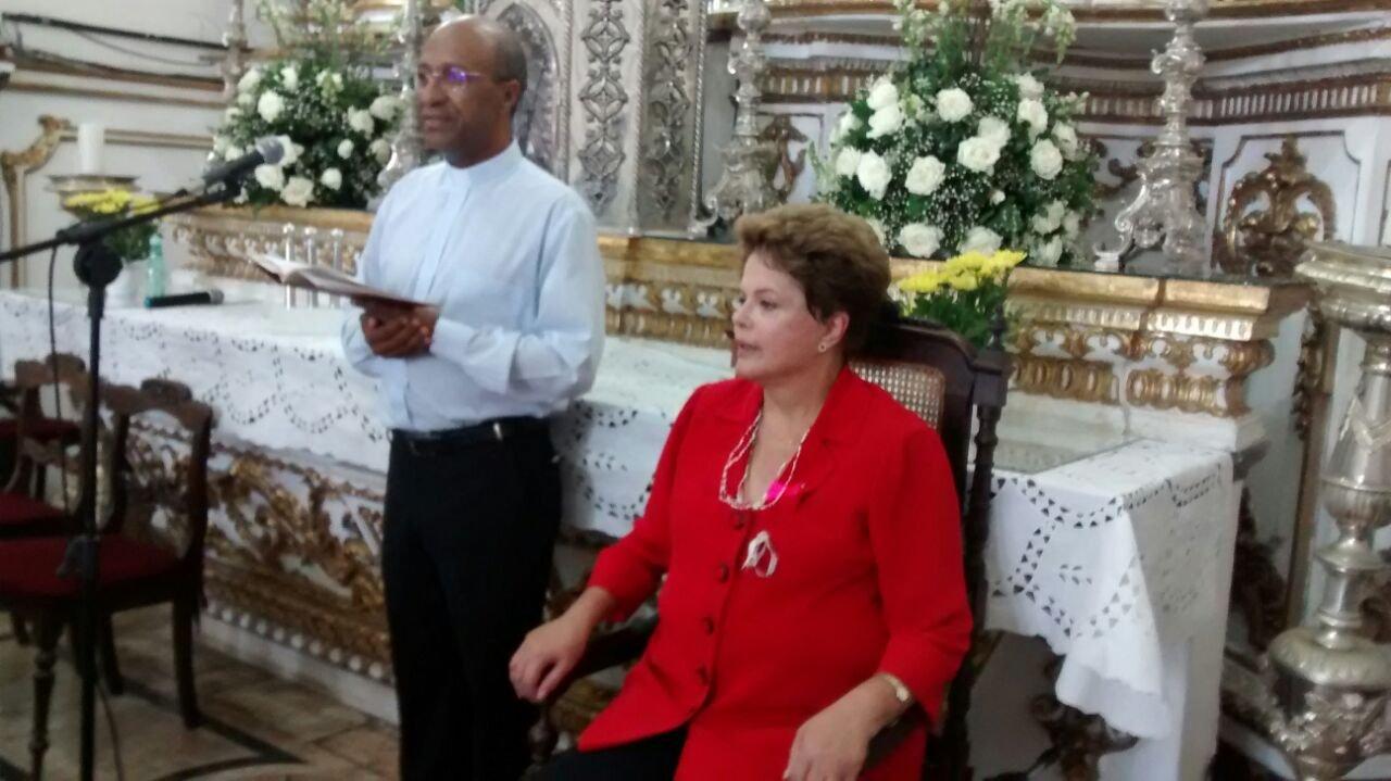 Visita da Presidente Dilma na Bas�lica