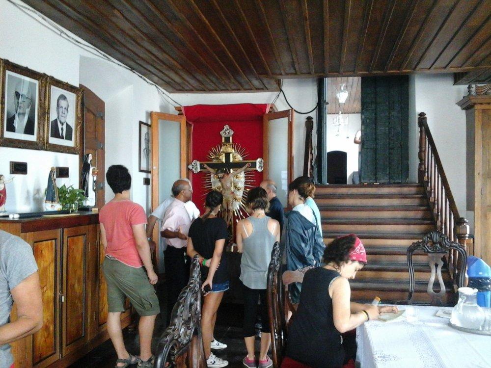 Visita de jovens da Diocese de Floren�a