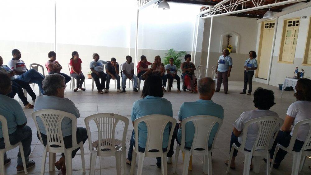 Atividade com volunt�rios do Projeto Bom Samaritano