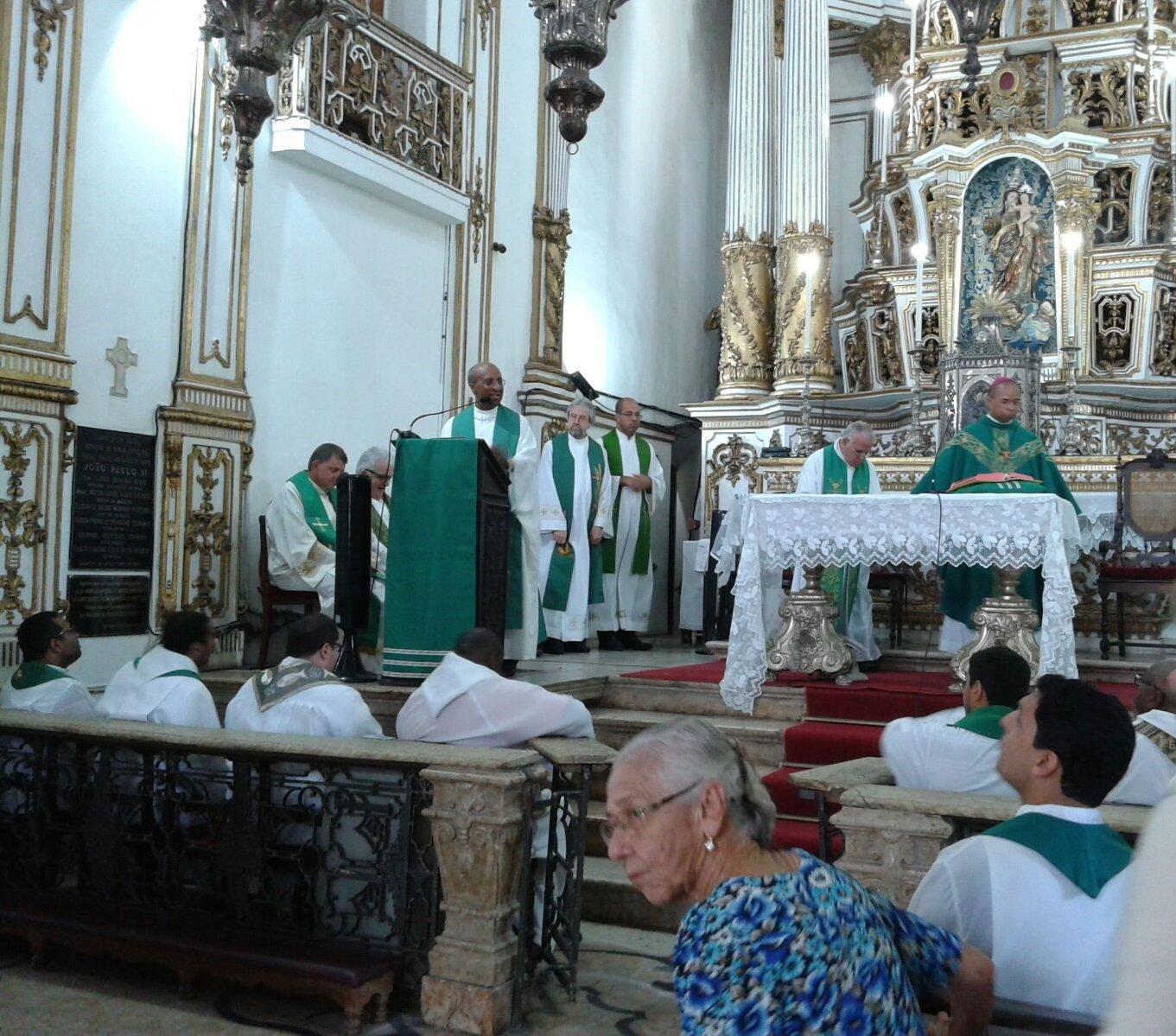 Missa com padres do Rio de Janeiro