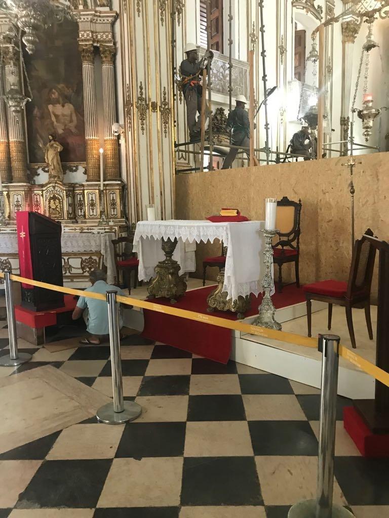 Obras na Basílica do Bonfim e em seu entorno