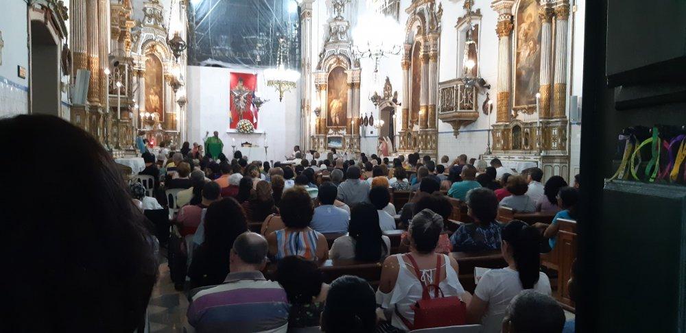 Missa em Ação de Graças aos Leigos Voluntários do Santuário