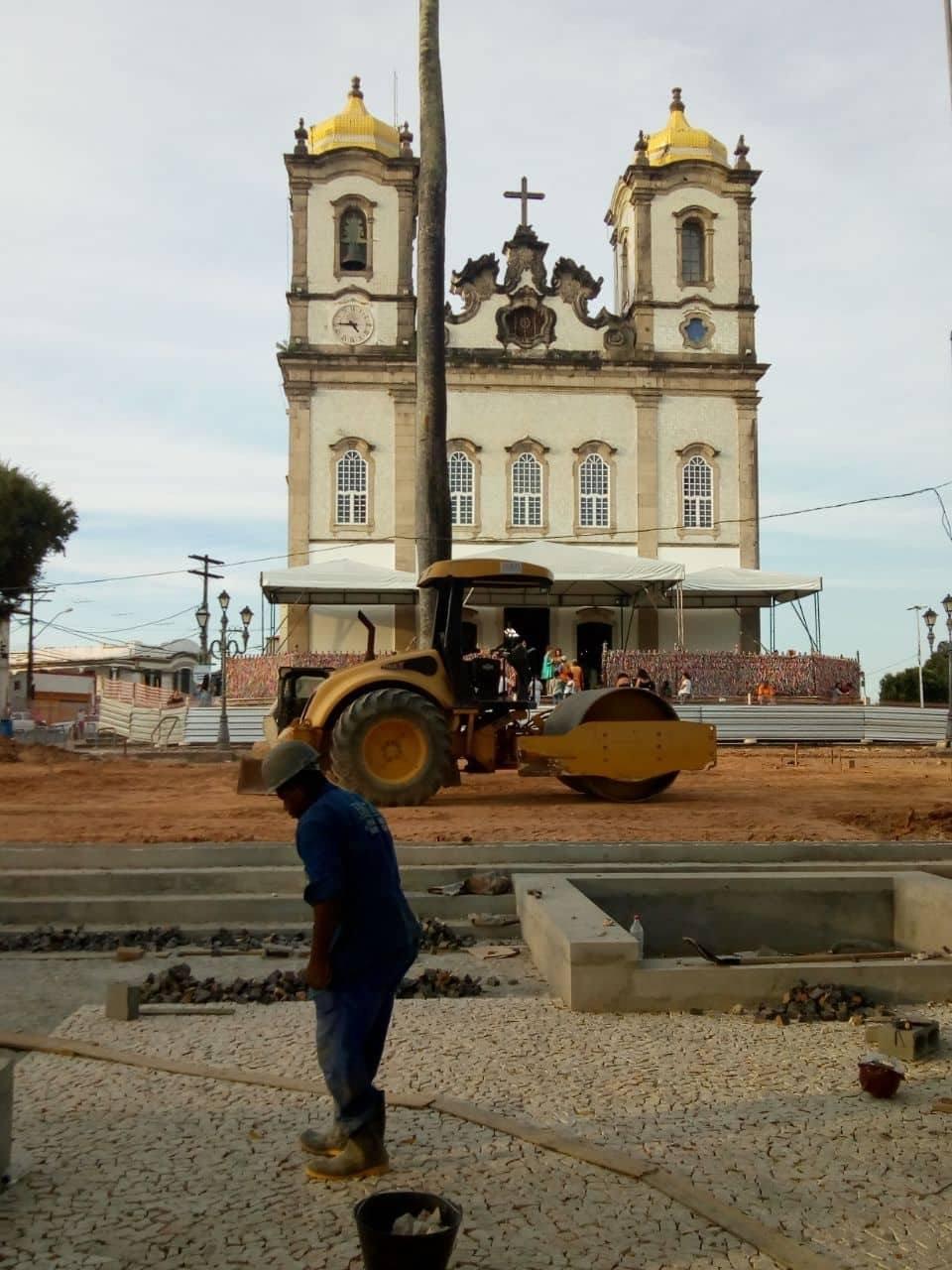 Obras de requalificação do entorno da Colina Sagrada seguem bem adiantadas