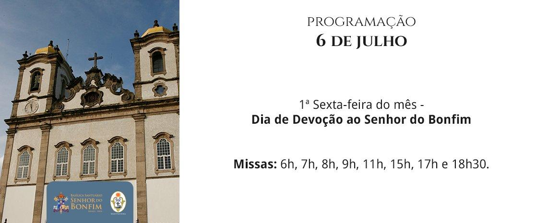 Confira os horários das Missas para a primeira sexta-feira do mês de julho