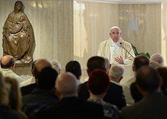 Missa do Papa em Santa Marta - A can��o de embalar de Deus
