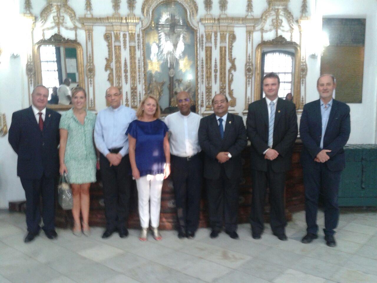 Presidente da C�mara Municipal de Set�bal visita Bas�lica