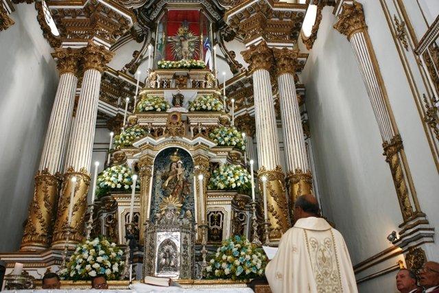 Bas�lica Santu�rio do Senhor do Bonfim lan�a campanha para restaura��o do Altar Mor