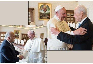 Shimon Peres e El Hassan bin Tala, Pr�ncipe da Jord�nia, apresentam iniciativas de paz a Francisco