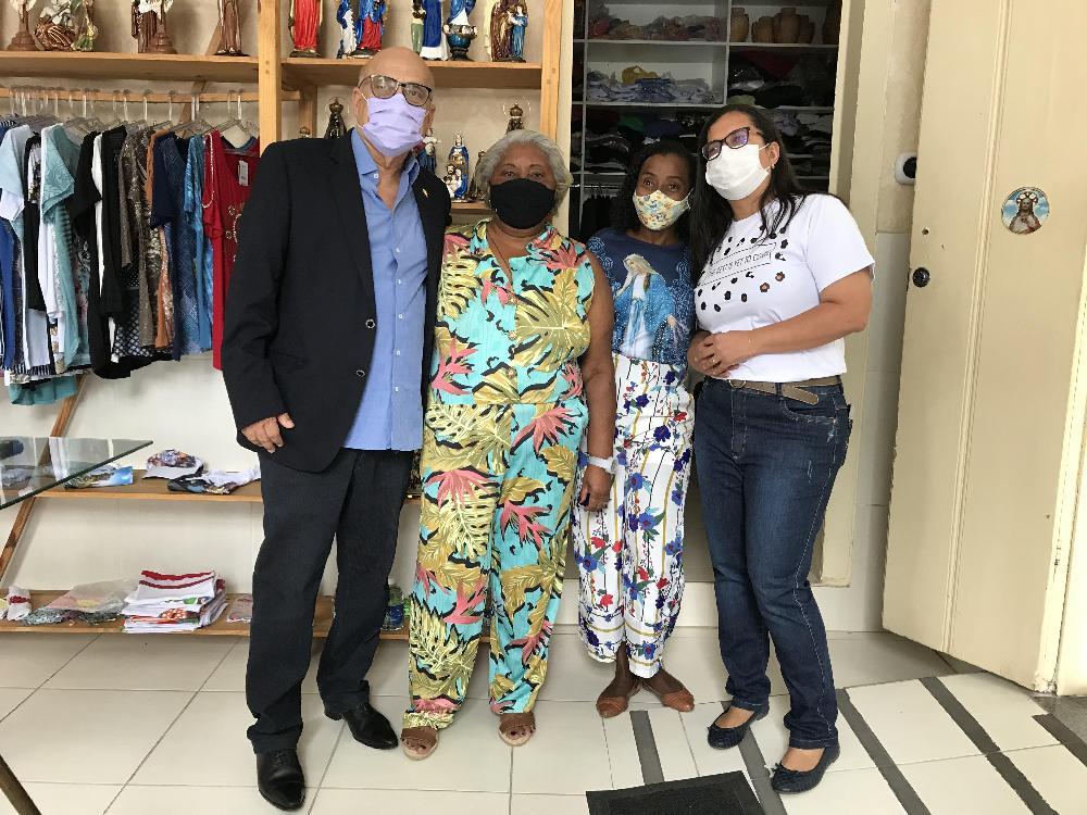 Visita da vice-prefeita de Salvador ao Projeto Bom Samaritano