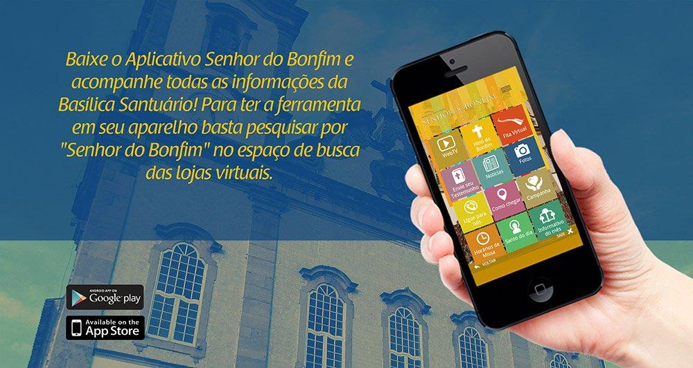 Aplicativo Senhor do Bonfim � indicado como finalista do Pr�mio CNBB de Comunica��o