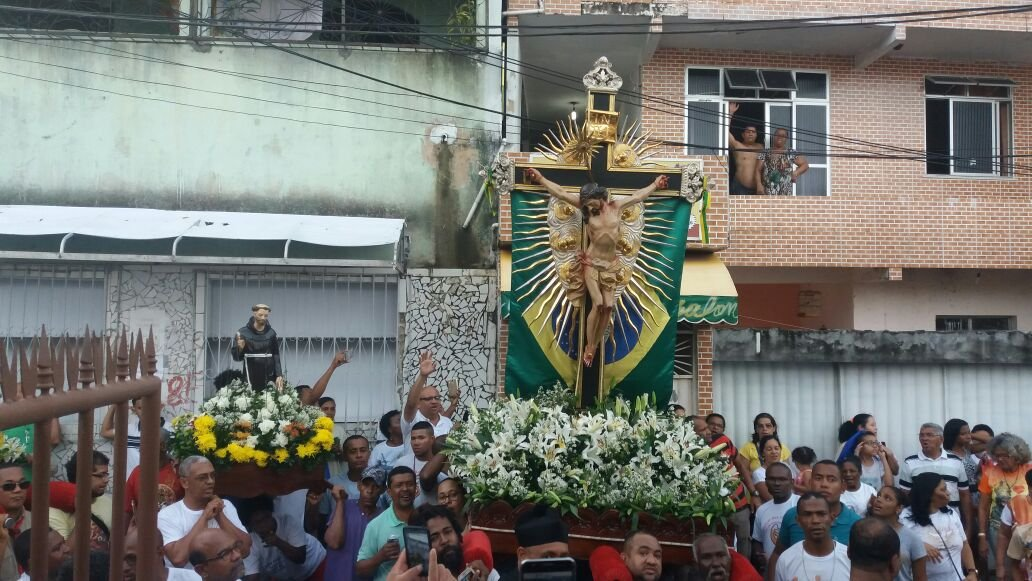 Visita das Imagens Peregrinas do Senhor do Bonfim e de Nossa Senhora da Guia a Saramandaia