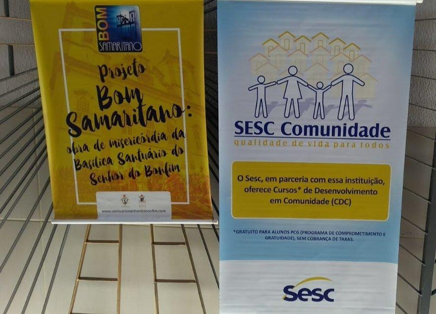 Projeto Bom Samaritano e Sesc Comunidade abrem inscrições para cursos