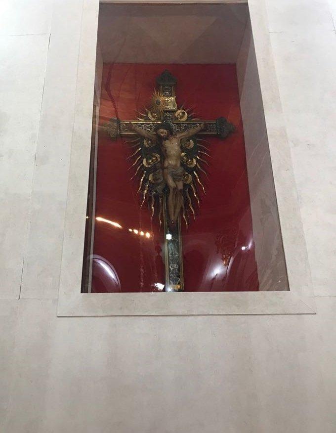 Transferência da veneranda Imagem do Senhor do Bonfim do Altar Mor para novo nicho - 02/08/2018