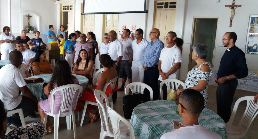 Acolhimento aos peregrinos de Planalto (BA)