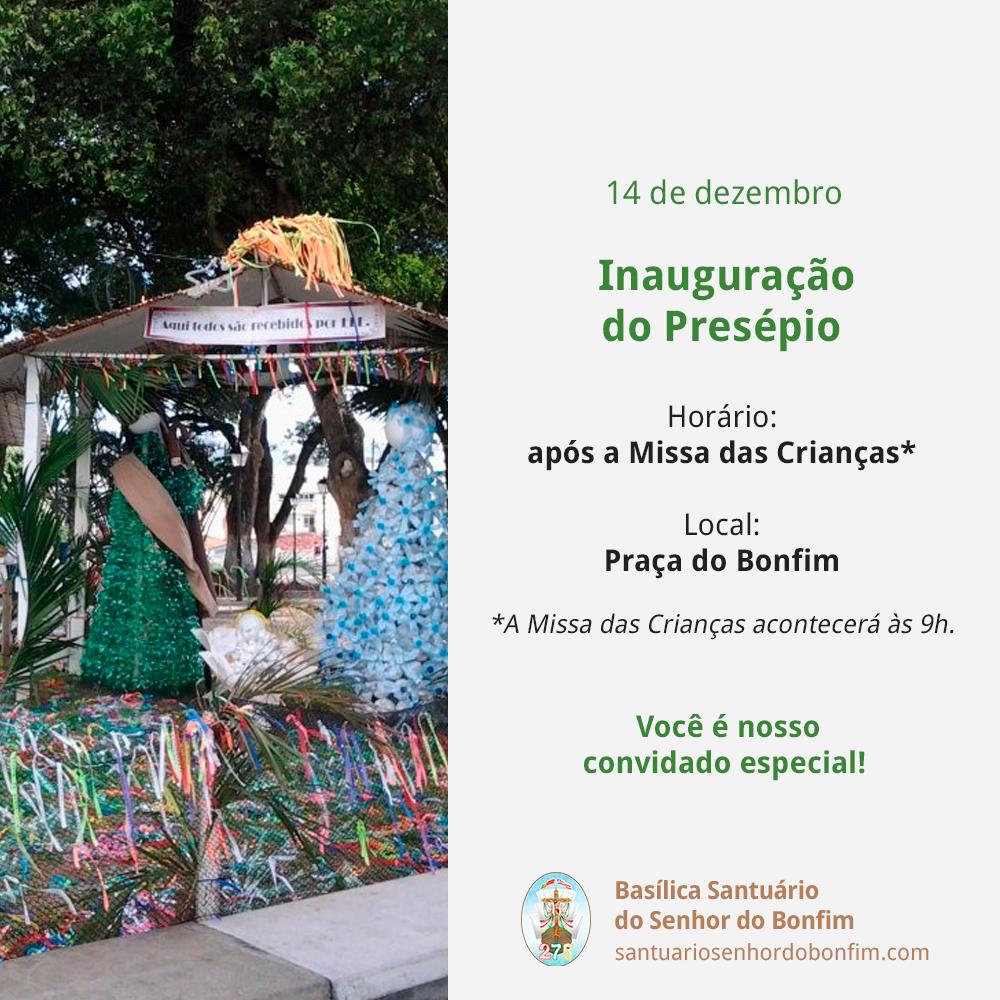 Inauguração do Presépio na Praça do Bonfim