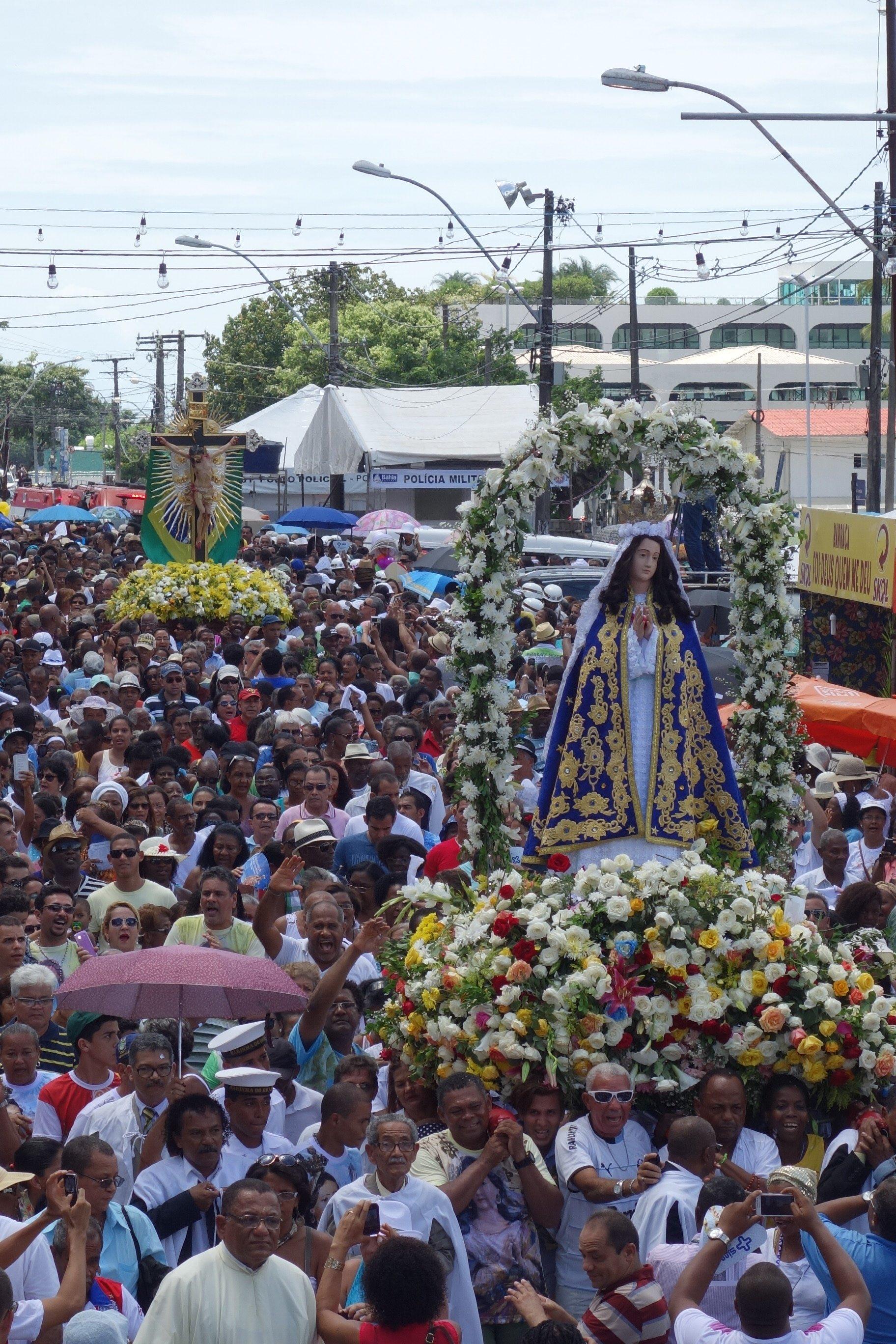 Imagem Peregrina na Festa da Conceição