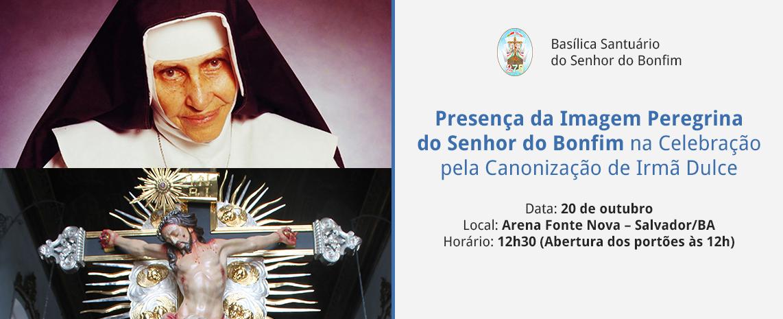 Imagem Peregrina do Senhor do Bonfim na Celebração pela Canonização de Irmã Dulce