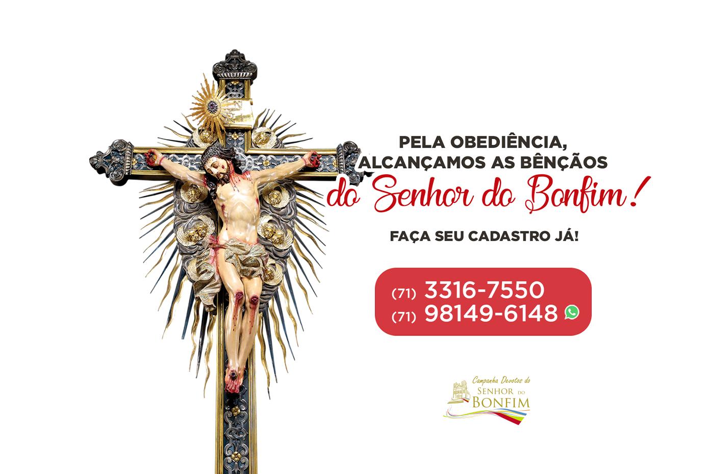 Entre agora mesmo para a nossa família Campanha Devotos do Senhor do Bonfim!