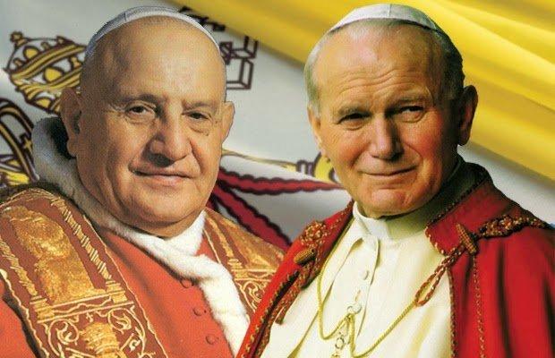 Jo�o Paulo 2� e Jo�o 23 s�o canonizados no Vaticano